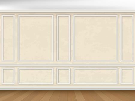 Illustration pour Vintage wall decorated panel mouldings in classic style - image libre de droit