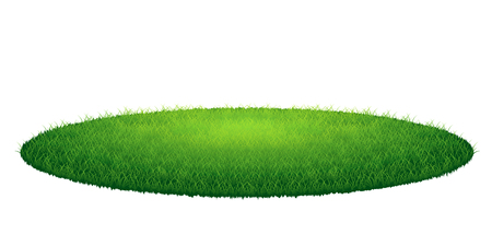 Illustration pour Green grass round arena. Vector illustration, isolated on white background - image libre de droit