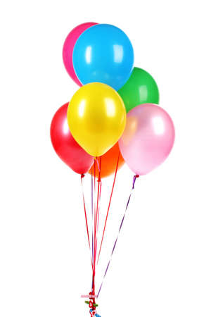 Photo for bright balloons isolated on white  - Royalty Free Image