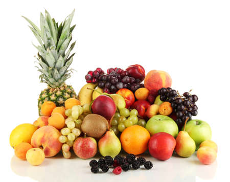 Photo pour Still life of fruit isolated on white - image libre de droit
