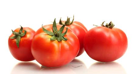 Photo pour tomatoes isolated on white - image libre de droit