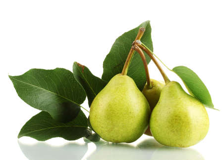 Photo pour Juicy flavorful pears isolated on white - image libre de droit