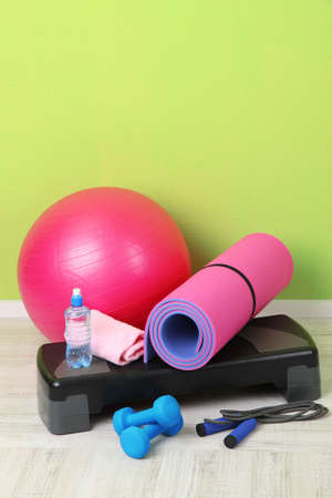 Different tools for fitness in room