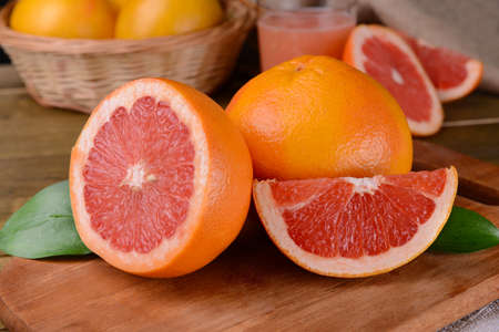 Photo for Ripe grapefruit on table close-up - Royalty Free Image