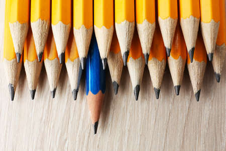 Photo pour Individuality concept. Pencils close-up - image libre de droit