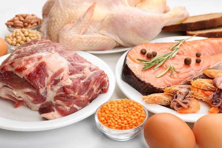 Foto de Food high in protein close-up - Imagen libre de derechos