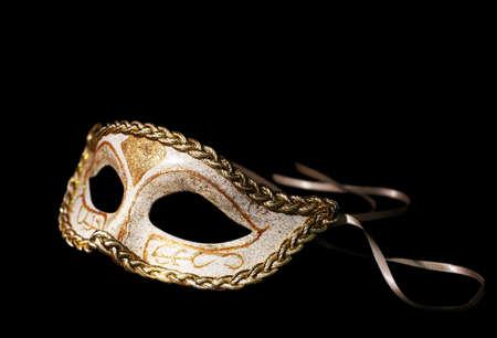 Photo pour Beautiful carnival mask isolated on black - image libre de droit