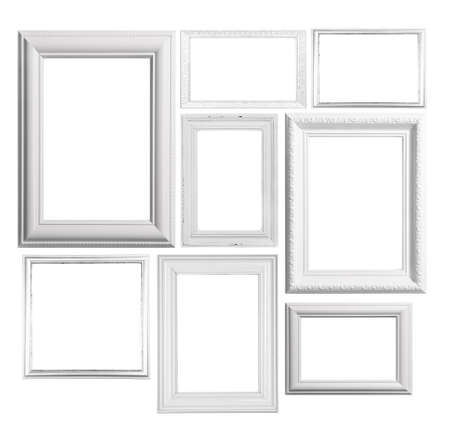 Foto de Collage of frames isolated on white - Imagen libre de derechos