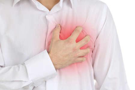 Foto de Man having chest pain - heart attack - Imagen libre de derechos