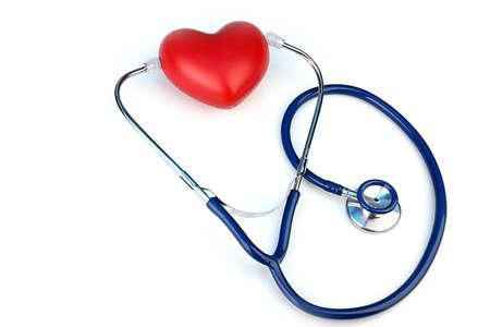 Foto de Stethoscope with heart on light background - Imagen libre de derechos
