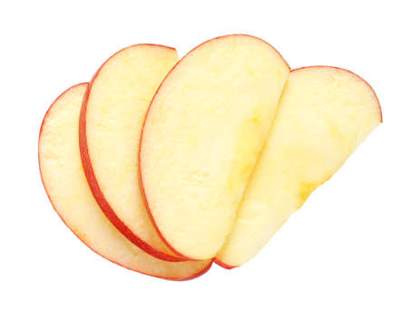 Photo for Sliced apple isolated on white - Royalty Free Image