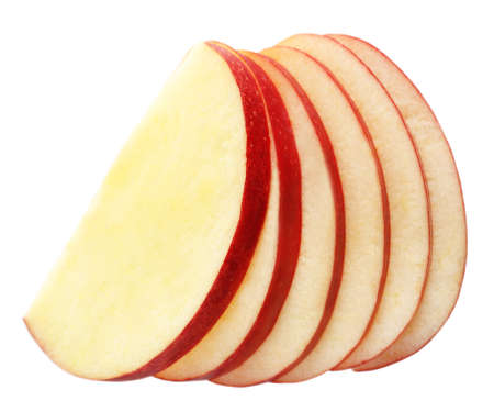 Foto per Sliced apple isolated on white - Immagine Royalty Free