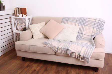 Photo pour Modern room with comfortable sofa, indoors - image libre de droit