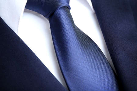 Photo for Male jacket with shirt and tie close up - Royalty Free Image