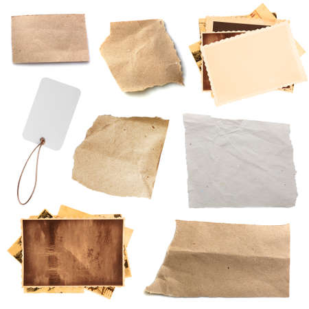 Photo pour Paper textures background, isolated on white - image libre de droit
