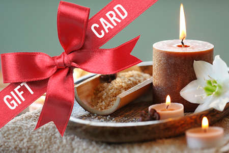 Photo for Holiday celebration concept. Spa service gift card - Royalty Free Image