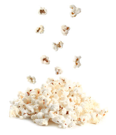 Foto de Tasty popcorn on white background - Imagen libre de derechos