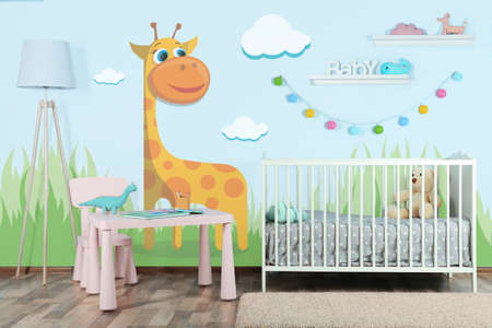Photo for Interior of modern baby room - Royalty Free Image