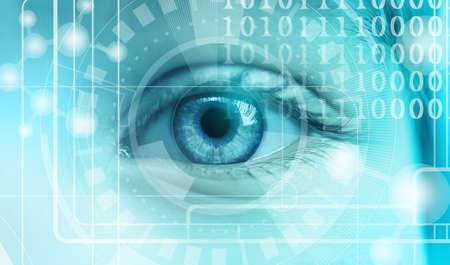 Foto de Ophthalmologist concept. Woman's eye, closeup - Imagen libre de derechos