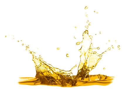 Foto de Cooking oil splash on white background - Imagen libre de derechos