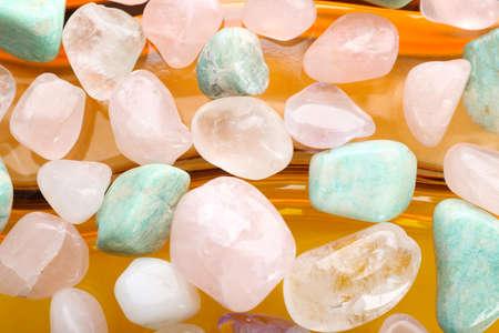 Foto de Semiprecious stones on bright background - Imagen libre de derechos