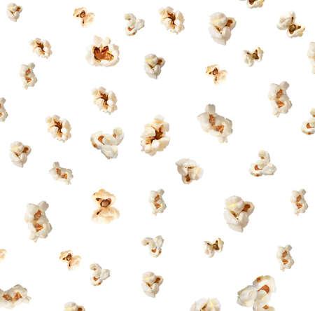 Photo for Tasty popcorn on white background - Royalty Free Image