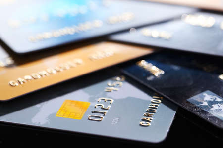Photo pour Credit cards, close up - image libre de droit