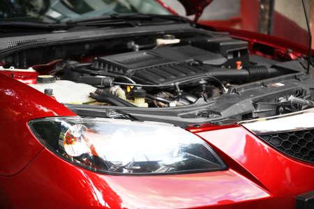Foto de Close up of car engine - Imagen libre de derechos