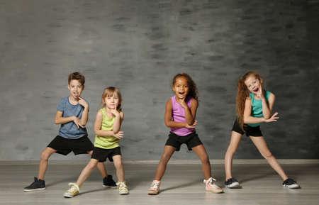 Foto de Cute funny children in dance studio - Imagen libre de derechos