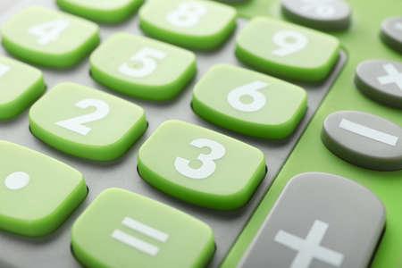 Photo pour Green calculator, closeup - image libre de droit
