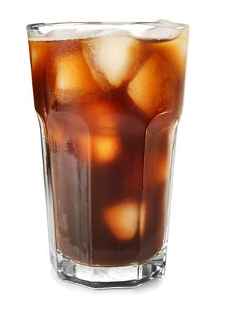 Foto de Glass with cold brew coffee on white background - Imagen libre de derechos