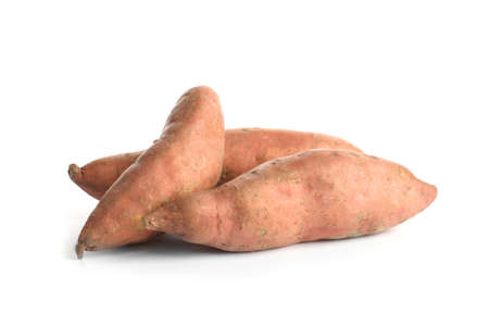 Photo for Sweet potatoes on white background - Royalty Free Image