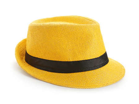 Photo for Summer hat on white background. Stylish accessory - Royalty Free Image