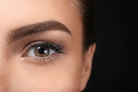 Photo for Young woman with beautiful eyebrow, closeup - Royalty Free Image