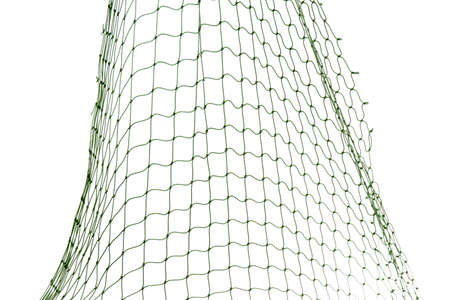 Photo pour Fishing net on white background, closeup view - image libre de droit