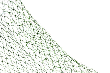 Photo pour Fishing net on white background, closeup view - image libre de droit