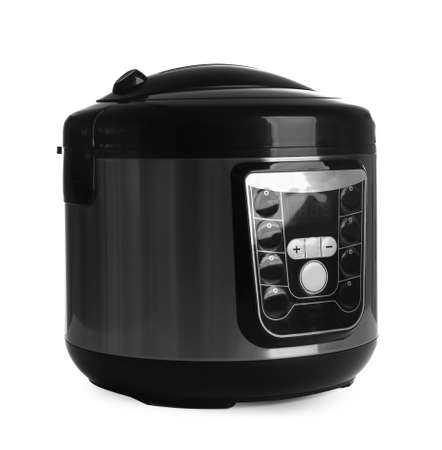 Foto de Modern electric multi cooker isolated on white - Imagen libre de derechos