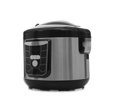 Foto de Modern electric multi cooker on white background - Imagen libre de derechos