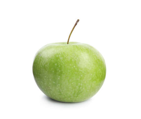Foto de Fresh ripe green apple on white background - Imagen libre de derechos