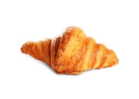 Foto de Fresh tasty croissant on white background. French pastry - Imagen libre de derechos