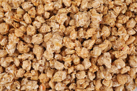 Photo for Healthy crunchy granola as background, top view - Royalty Free Image