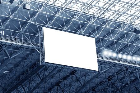 Foto de Electronic billboard display at stadium. Isolated for your text or image. - Imagen libre de derechos