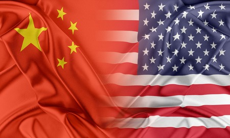 Photo pour Relations between two countries. USA and China - image libre de droit