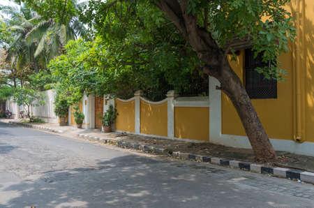 Foto de Street in Pondicherry, India. - Imagen libre de derechos
