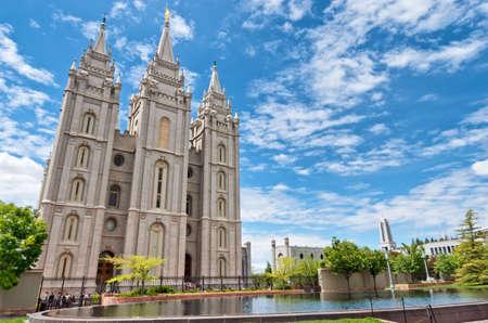 Photo pour Salt Lake City, USA: Salt Lake Temple is a temple of The Church of Jesus Christ of Latter-day Saints (LDS Church) in Salt Lake City, Utah, USA - image libre de droit