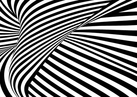 Illustration for Vector op art pattern. Optical illusion abstract background. - Royalty Free Image