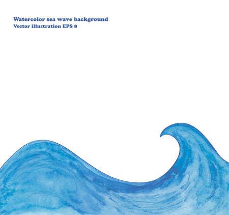 Ilustración de Watercolor sea wave background - Imagen libre de derechos
