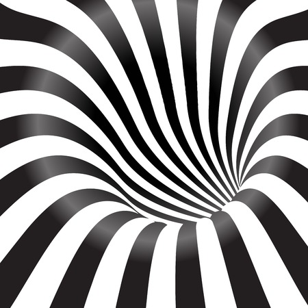 Illustration for Black and white tunnel  background - Royalty Free Image