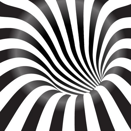Illustration pour Black and white tunnel  background - image libre de droit