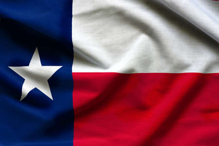 Photo pour Fabric texture of the Texas Flag - Flags from the USA - image libre de droit